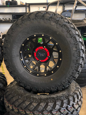 "KMC XS135 14"" Wheels and 30"" EFX Motohammer Tire Package for 4x137"
