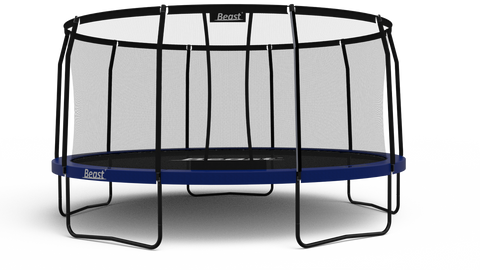 PRE-ORDER Beast 15 ft Trampoline (BLUE) with Premium Enclosure | NO WEIGHT LIMIT | FREE Ladder