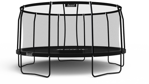 Beast 15 ft Trampoline (BLACK) with Premium Enclosure | NO WEIGHT LIMIT