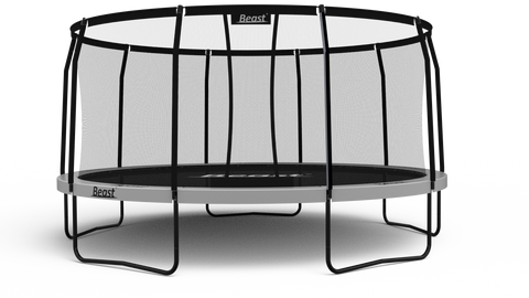 PRE-ORDER Beast 15 ft Trampoline (WHITE) with Premium Enclosure | NO WEIGHT LIMIT