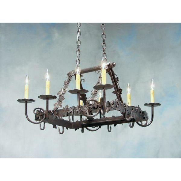 2nd Ave Lighting Vineyard Chandelier Pot Rack - Premier Pot Racks