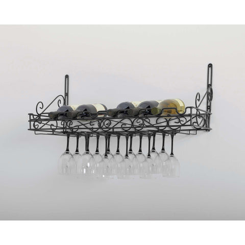 Concept Housewares 8 Bottle Wall Mounted Wine Rack - Premier Pot Racks