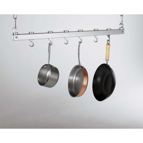 Concept Housewares Chrome Bar Pot Rack - Premier Pot Racks
