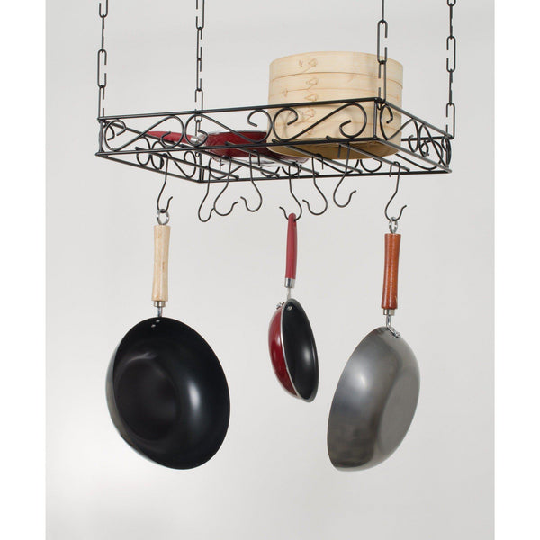 Concept Housewares Scrolled Iron Pot Rack - Premier Pot Racks
