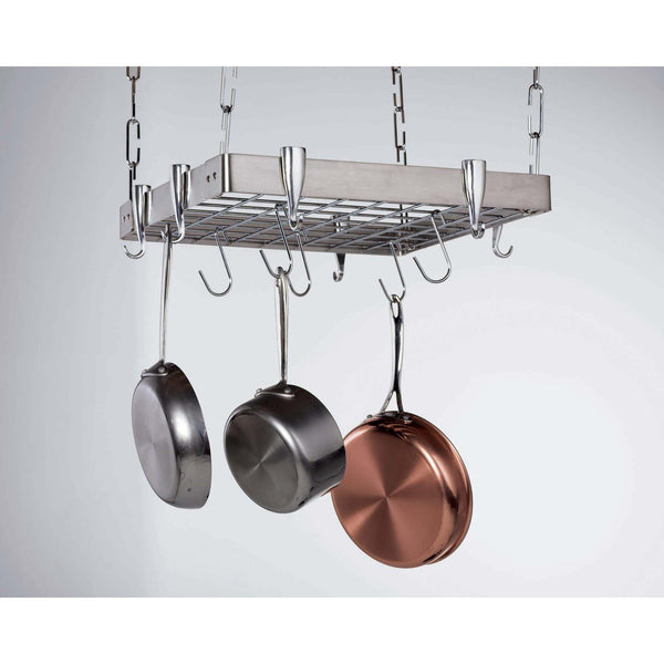 Concept Housewares Stainless Steel Square Pot Rack - Premier Pot Racks