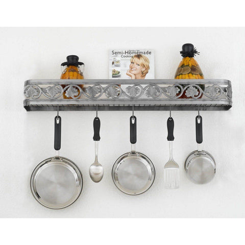 "Hi-Lite 34"" Leaf Wall Pot Rack - Premier Pot Racks"