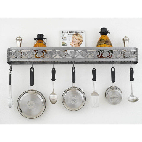 "Hi-Lite 46"" Leaf Wall Pot Rack - Premier Pot Racks"