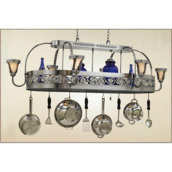Hi-Lite 9 Light Leaf Pot Rack - Premier Pot Racks