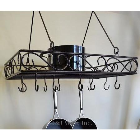 J&J Wire Scroll Pot & Pan Rack - Premier Pot Racks