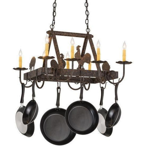 Meyda Lighting Barn Animals Candlelight Pot Rack - Premier Pot Racks