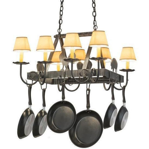 Meyda Lighting Barn Animals Lighted Pot Rack - Premier Pot Racks