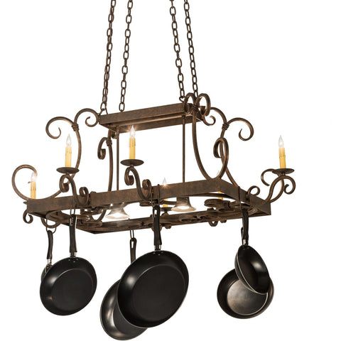 Meyda Lighting Caiden 6 Candelight Pot Rack - Premier Pot Racks