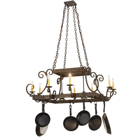 Meyda Lighting Caiden 8 Candelight Pot Rack - Premier Pot Racks