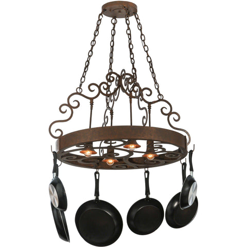 "Meyda Lighting Dior 34""W Pot Rack - Premier Pot Racks"