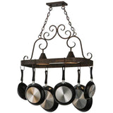 Meyda Lighting Elana 2 Light Pot Rack - Premier Pot Racks