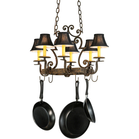 Meyda Lighting Elara Lighted Pot Rack - Premier Pot Racks