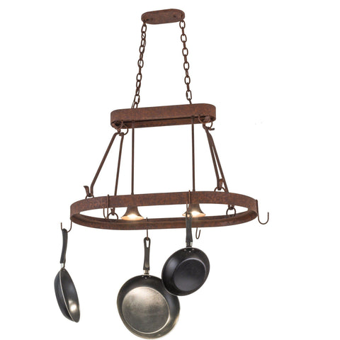 Meyda Lighting Harmony 2 Light Pot Rack - Premier Pot Racks