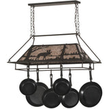 Meyda Lighting Moose at Lake Pot Rack - Premier Pot Racks