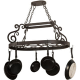 "Meyda Lighting Neo 38""L Pot Rack - Premier Pot Racks"