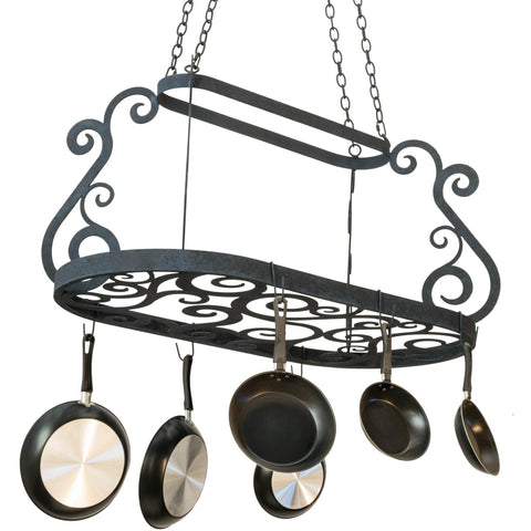 "Meyda Lighting Neo 48""L Pot Rack - Premier Pot Racks"