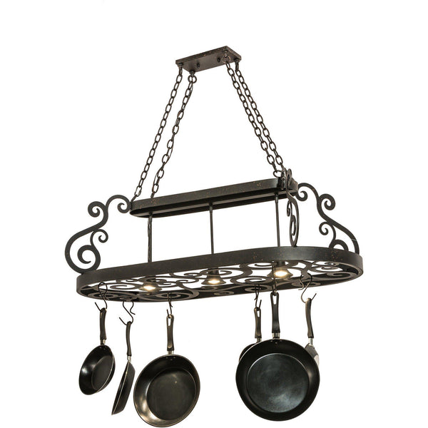 Meyda Lighting Neo Lighted Pot Rack - Premier Pot Racks