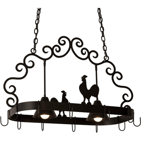 Meyda Lighting Poulet 2 Light Pot Rack - Premier Pot Racks