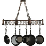 Meyda Lighting Revival Deco Pot Rack - Premier Pot Racks