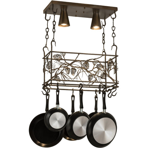 Meyda Lighting Whispering Pines Pot Rack - Premier Pot Racks
