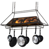 Meyda Lighting Wild Horses Pot Rack - Premier Pot Racks