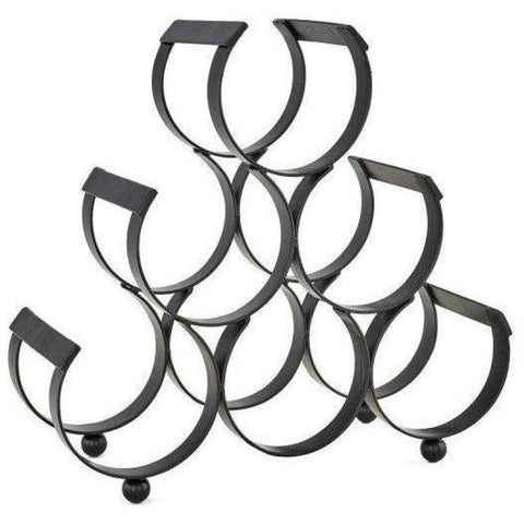 Old Dutch 10 Bottle Iron Wine Rack - Premier Pot Racks