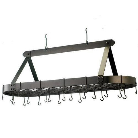 "Old Dutch 48"" Oval Hanging Pot Rack - Premier Pot Racks"