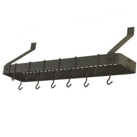 Old Dutch Wall-Mount Bookshelf Rack With 12 Hooks - Premier Pot Racks