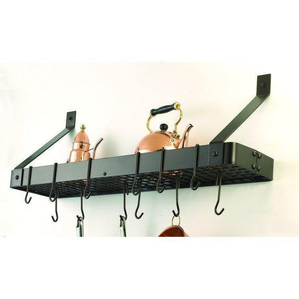 Wall-Mount Bookshelf Rack With 12 Hooks