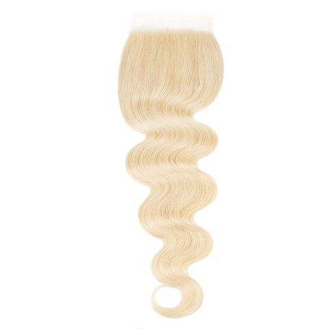Lace Closure Brasilianisches 100% REMY Haar Body Wave Free Style Bomb Blond