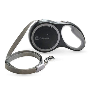 16 Foot Retractable Pet Leash - Grey - Large