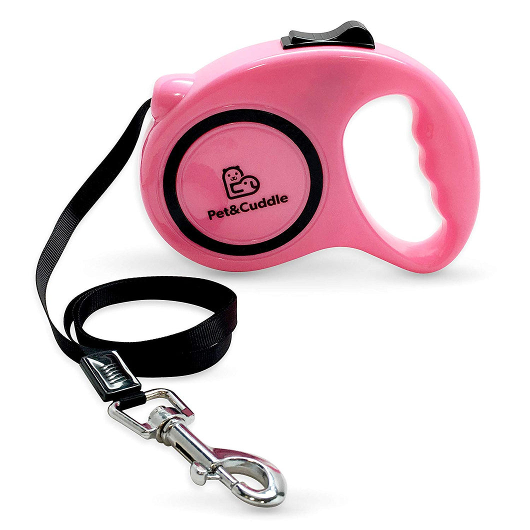 16 Foot Retractable Pet Leash - Pink