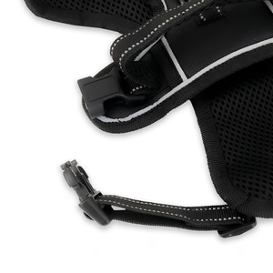 Small/Black Dog Harness – Easy Walk, No-Pull, Soft & Adjustable