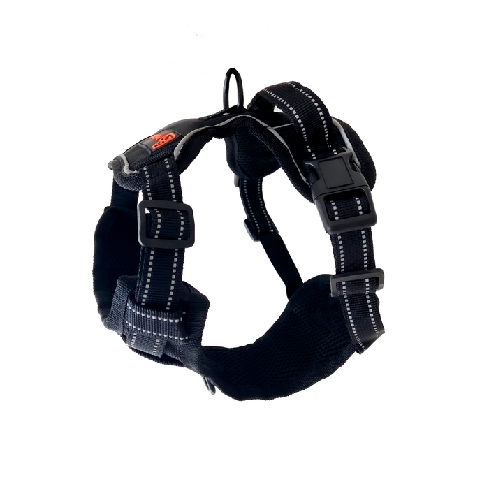Large/Black Dog Harness – Easy Walk, No-Pull, Soft & Adjustable