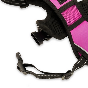 Easy Walk No-Pull Soft Adjustable Dog Harness - Pink/Medium