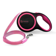 Load image into Gallery viewer, 16 Foot Retractable Pet Leash - Pink/Black - Large