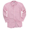 Men's Classic Stretch Gingham Plaid Shirt (Pink/White)
