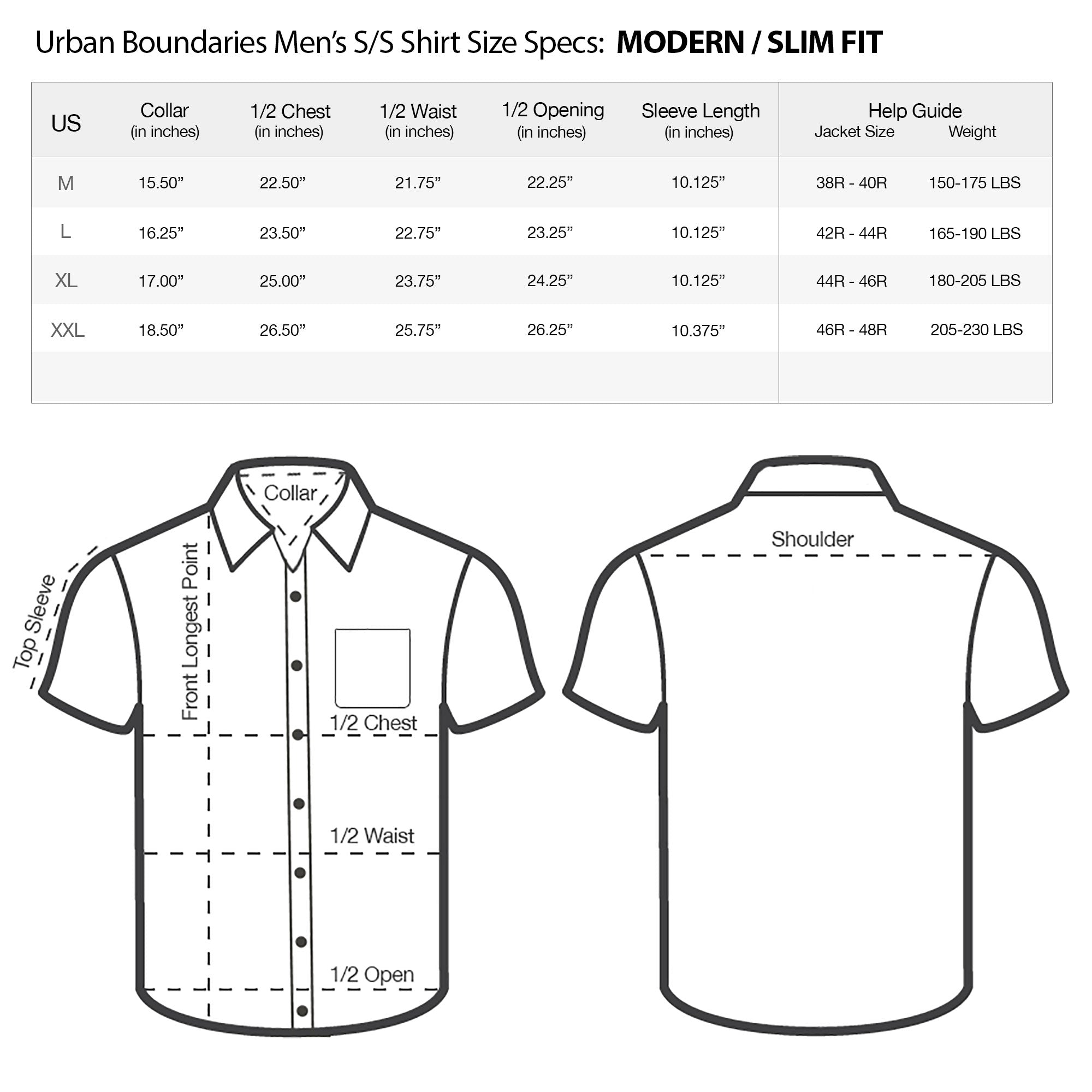 Size Chart For Mens Shirts Edge Engineering And Consulting Limited