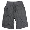 Men's Elastic Waist Jogger Gym Shorts charcoal