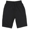 Men's Elastic Waist Jogger Gym Shorts black