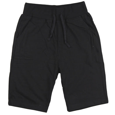 Men's Elastic Waist Jogger Gym Shorts (Black)