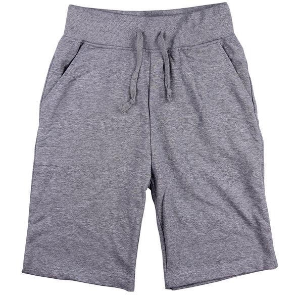 Men's Elastic Waist Jogger Gym Shorts (Grey)