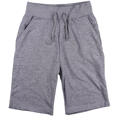 Men's Elastic Waist Jogger Gym Shorts grey