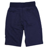 Men's Elastic Waist Jogger Gym Shorts navy back