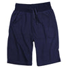 Men's Elastic Waist Jogger Gym Shorts (Navy)