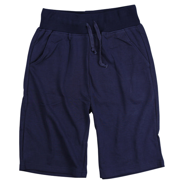 Men's Elastic Waist Jogger Gym Shorts navy